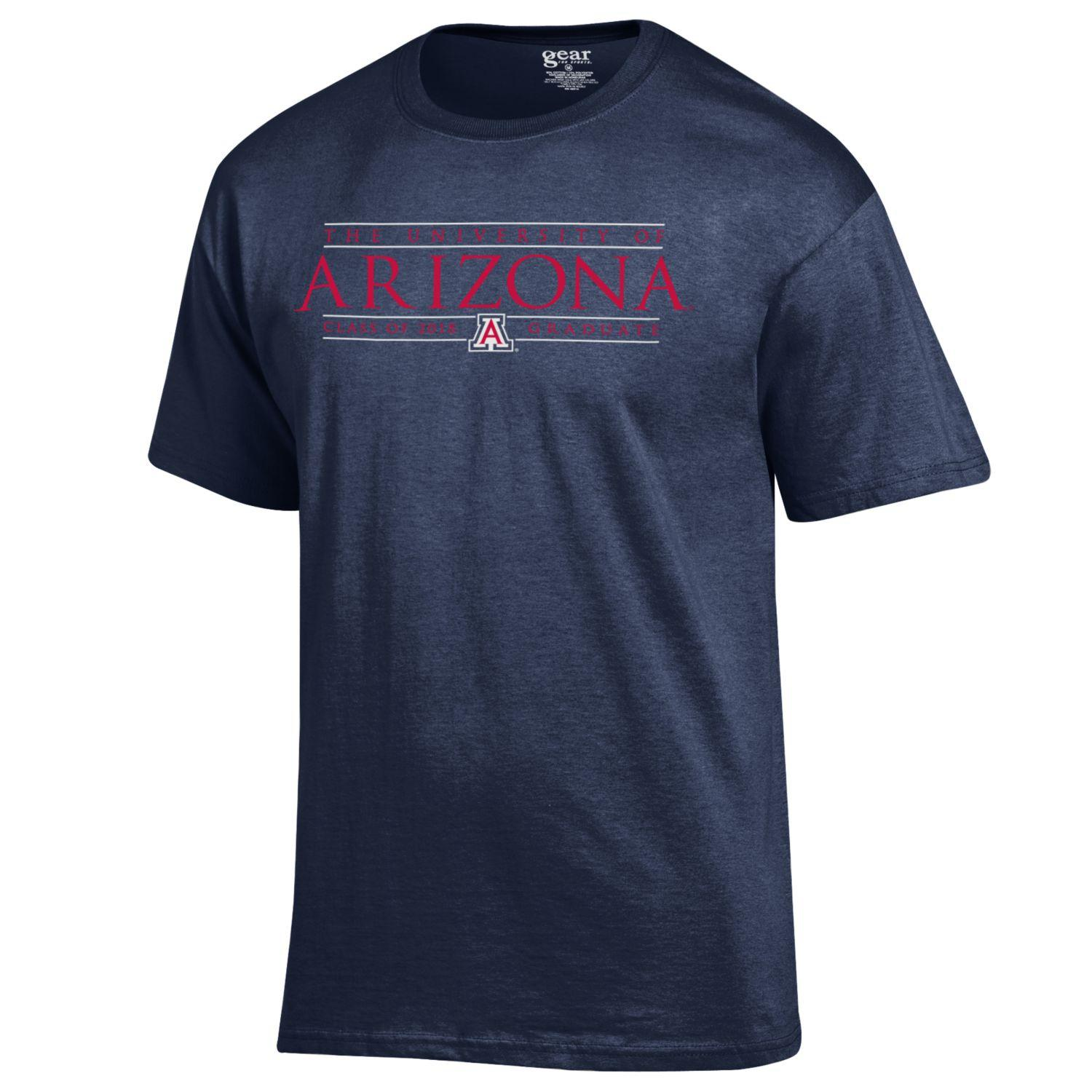 Image For Gear: University of Arizona Class of 2018 Graduate Tee-Navy
