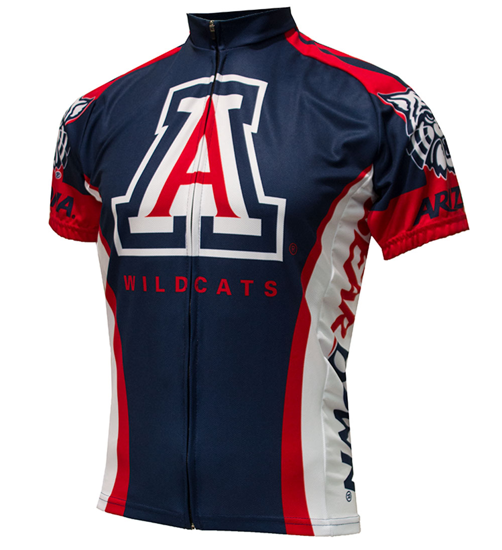 Image For Adrenaline Cycling Arizona Widlcats Bear Down Jersey Navy