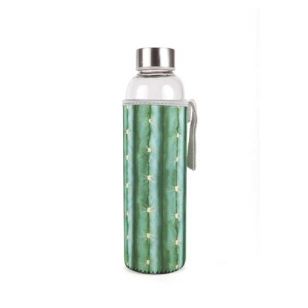 Image For Glass: Cactus Water Bottle with Neoprene Sleeve