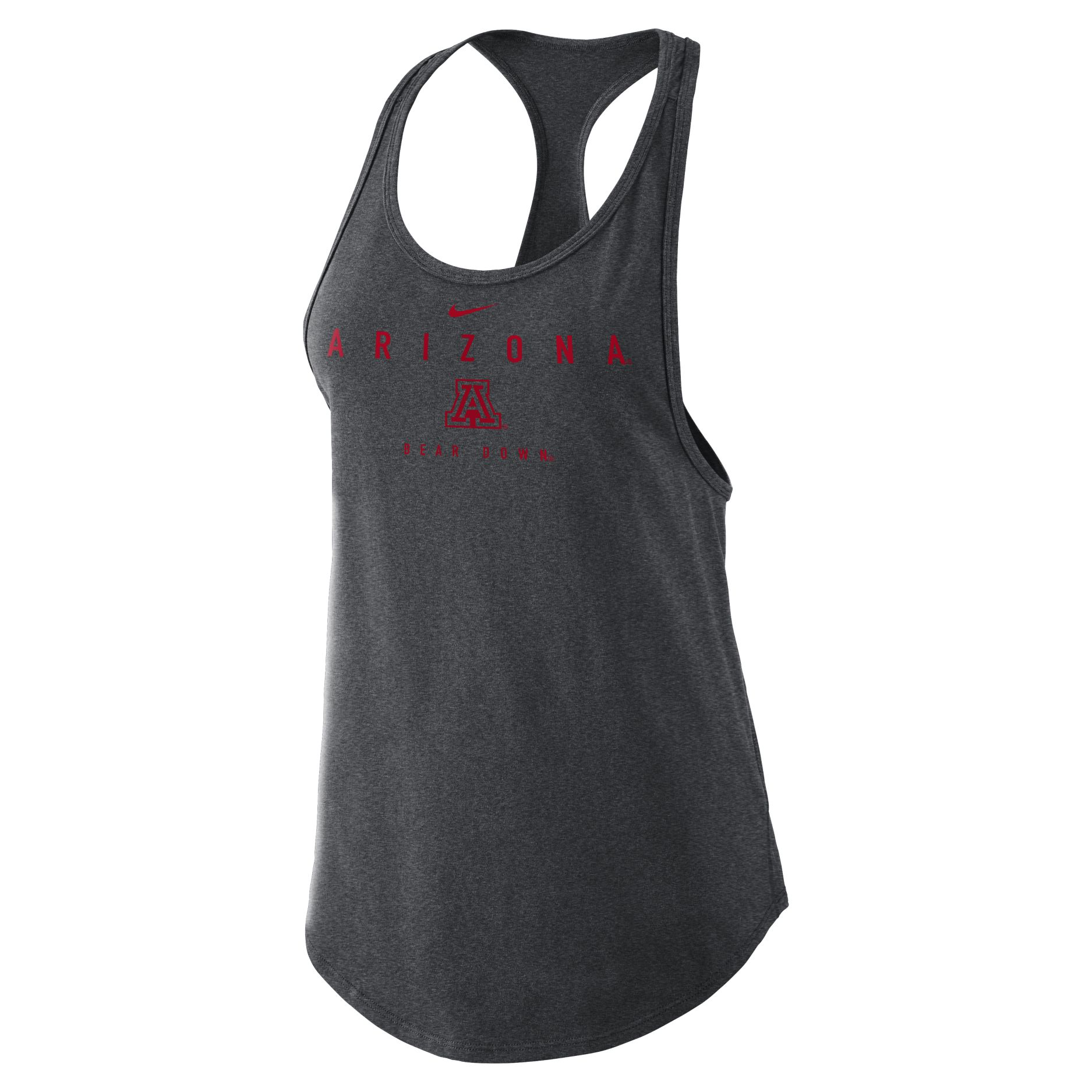 Image For Nike: Arizona Bear Down Cotton Gym Tank - Heather Charcoal