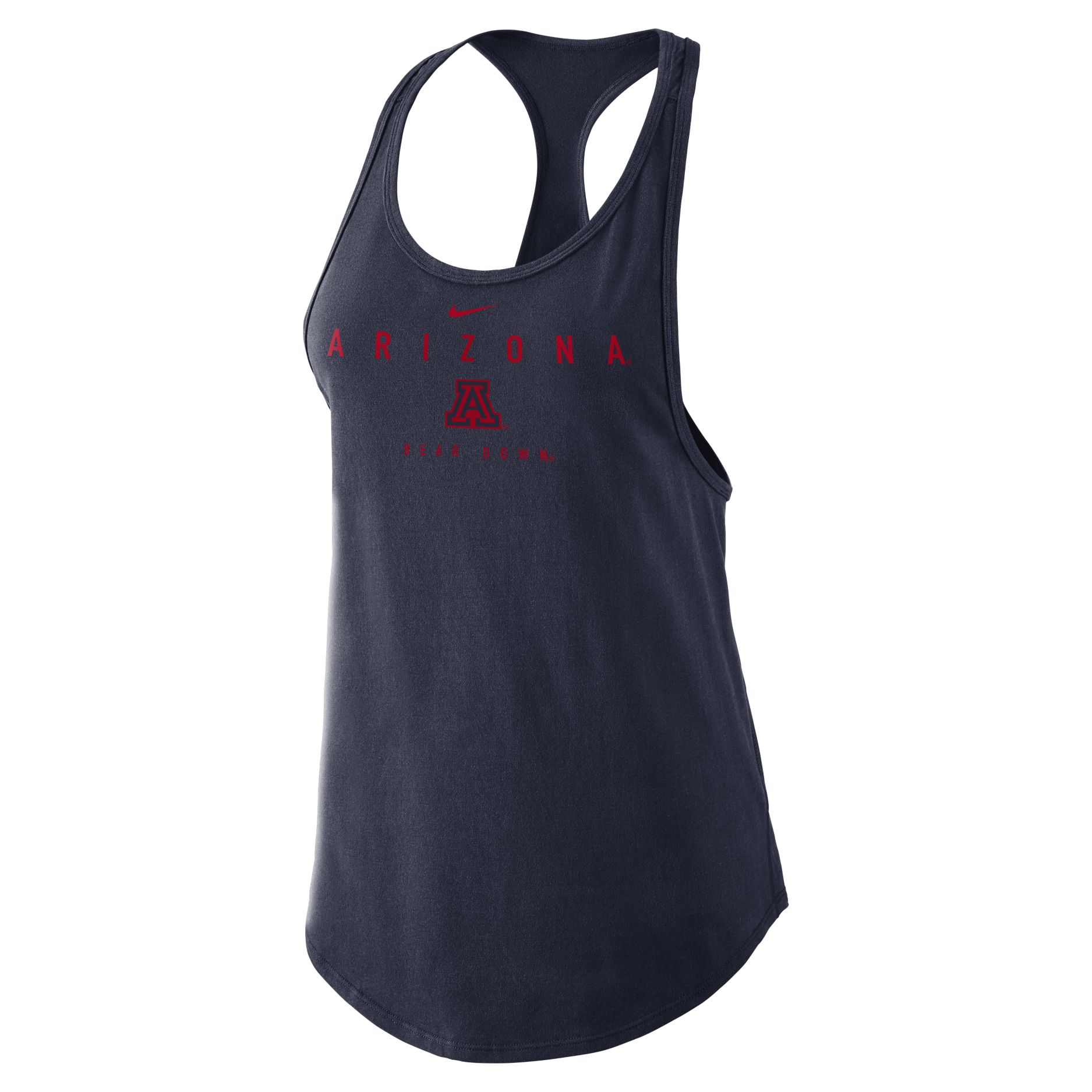 Image For Nike: Arizona Bear Down Cotton Gym Tank - Navy