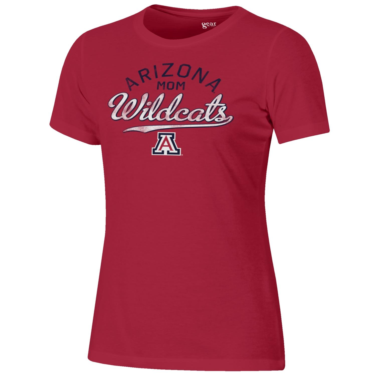Arizona MOM Wildcats Mia Crew Red Tee By Gear For Sports