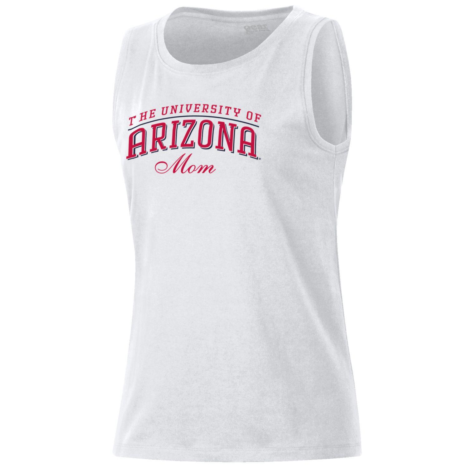 Image For Gear: Arizona University of MOM Muscle Tee - White
