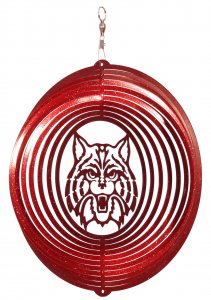 Image For ARIZONA WILDCATS Circle Swirly Metal Wind Spinner