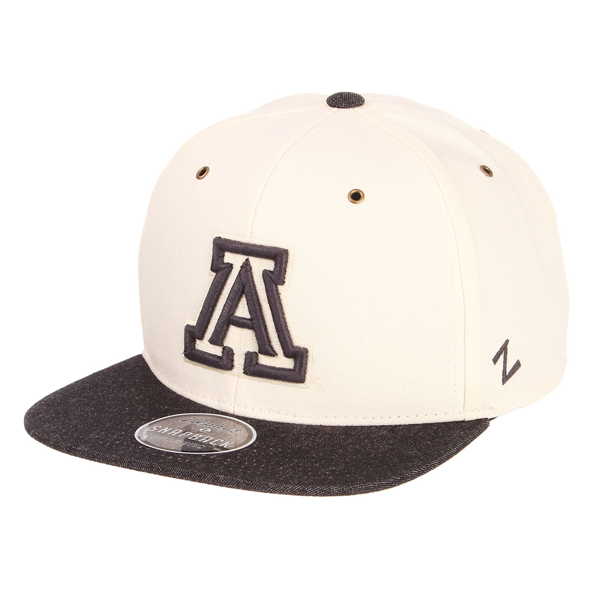 11f56856189 Image For Zephyr  Arizona 32 5 Snapback Canvas Flat Bill Hat Cap