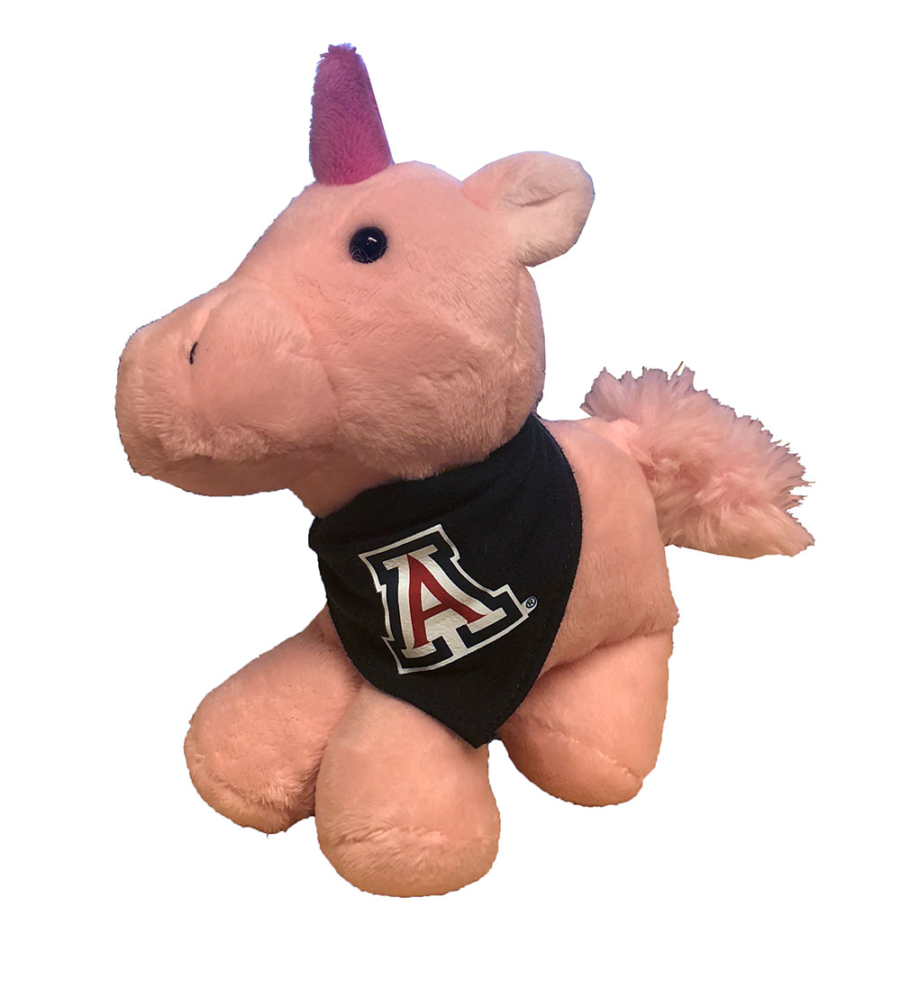 Image For Mascot Factory: Plush Unicorn with UofA Bandanna