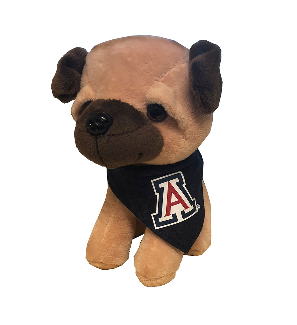 Image For Mascot Factory: Plush Dog with UofA Bandanna
