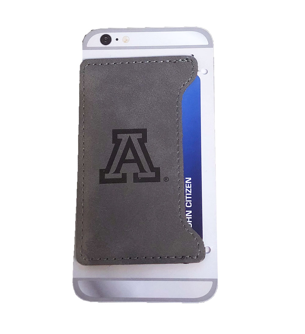 Image For LXG: Arizona Velour Cell Phone Card Holder-Grey