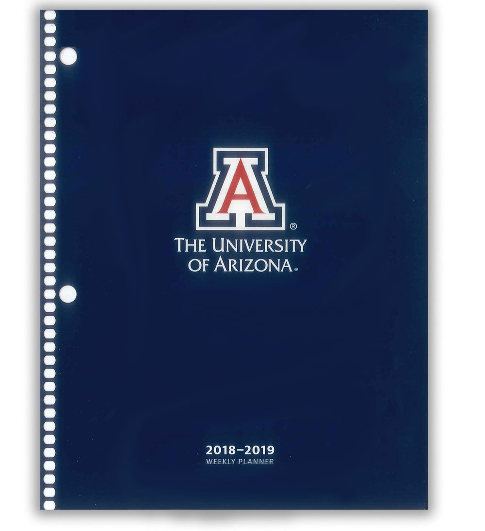 2018 2019 Arizona Wildcat Student Weekly Planner