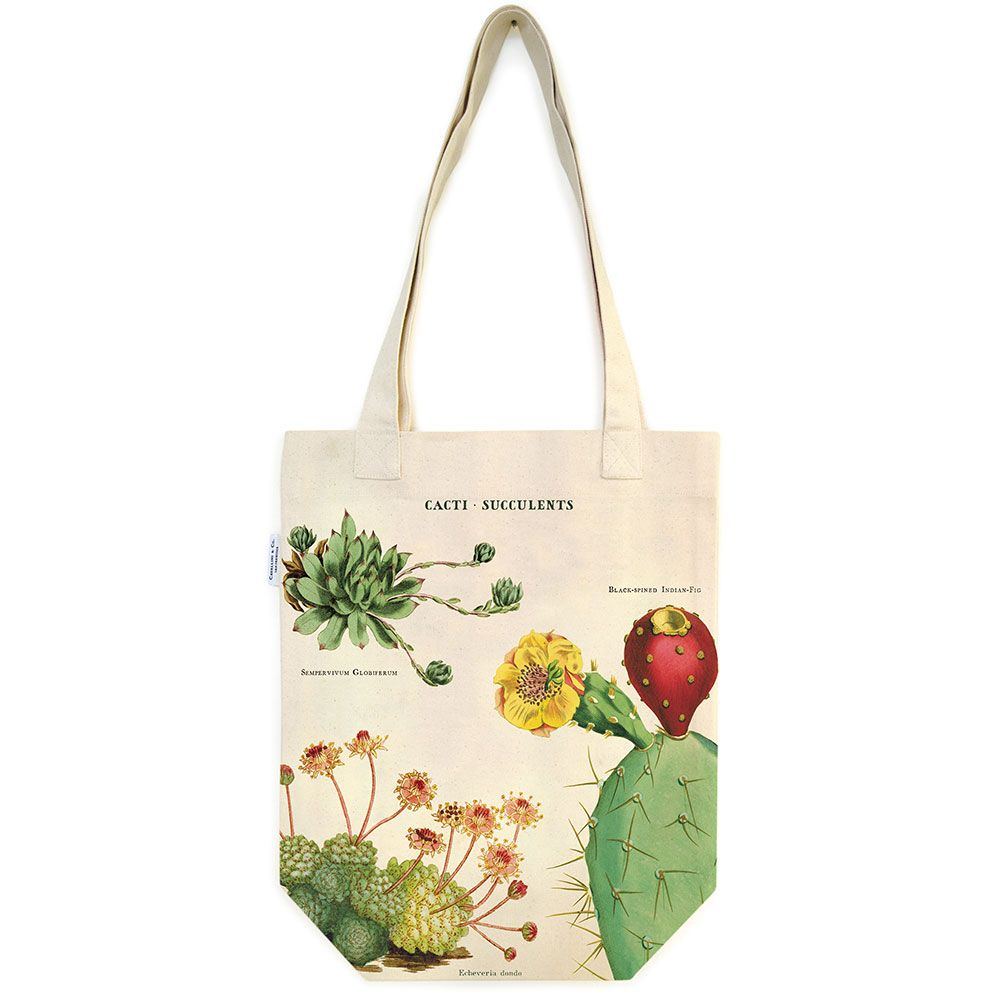 Image For Cavallini & Co. Cacti & Succulents Tote Bag