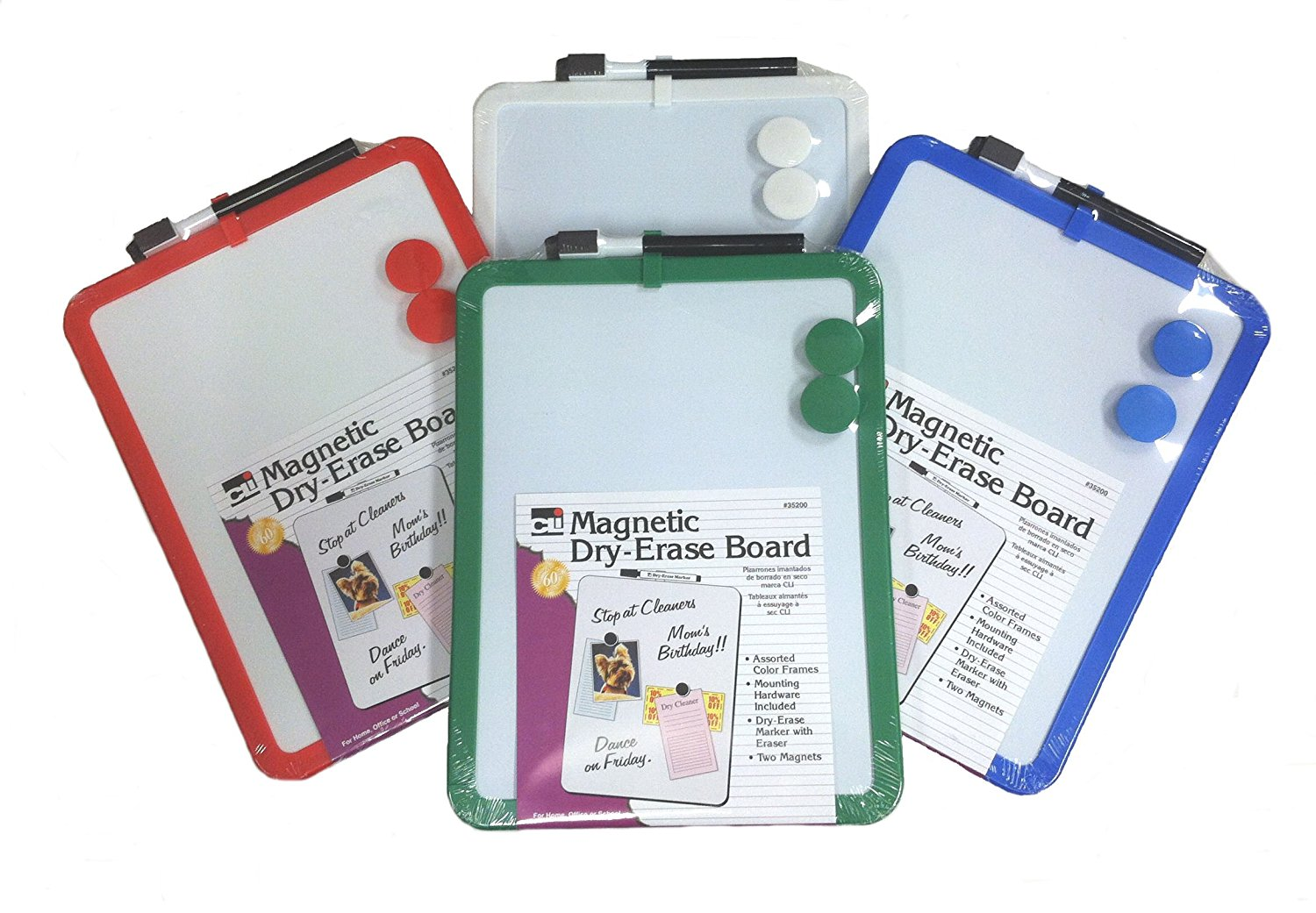 Image For Charles Leonard Framed Magnetic Dry Erase Board