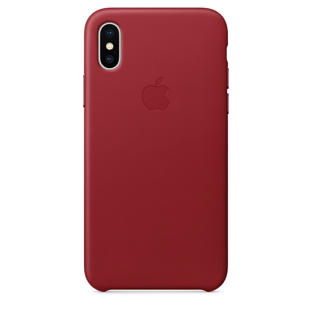 Image For iPhone X Leather Case - (PRODUCT)RED