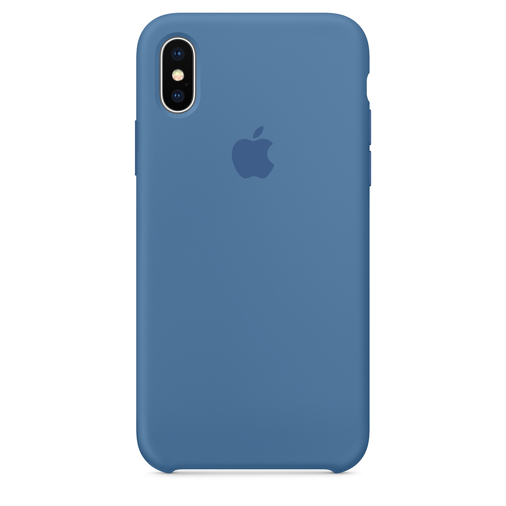 Image For iPhone X Silicone Case - Denim Blue