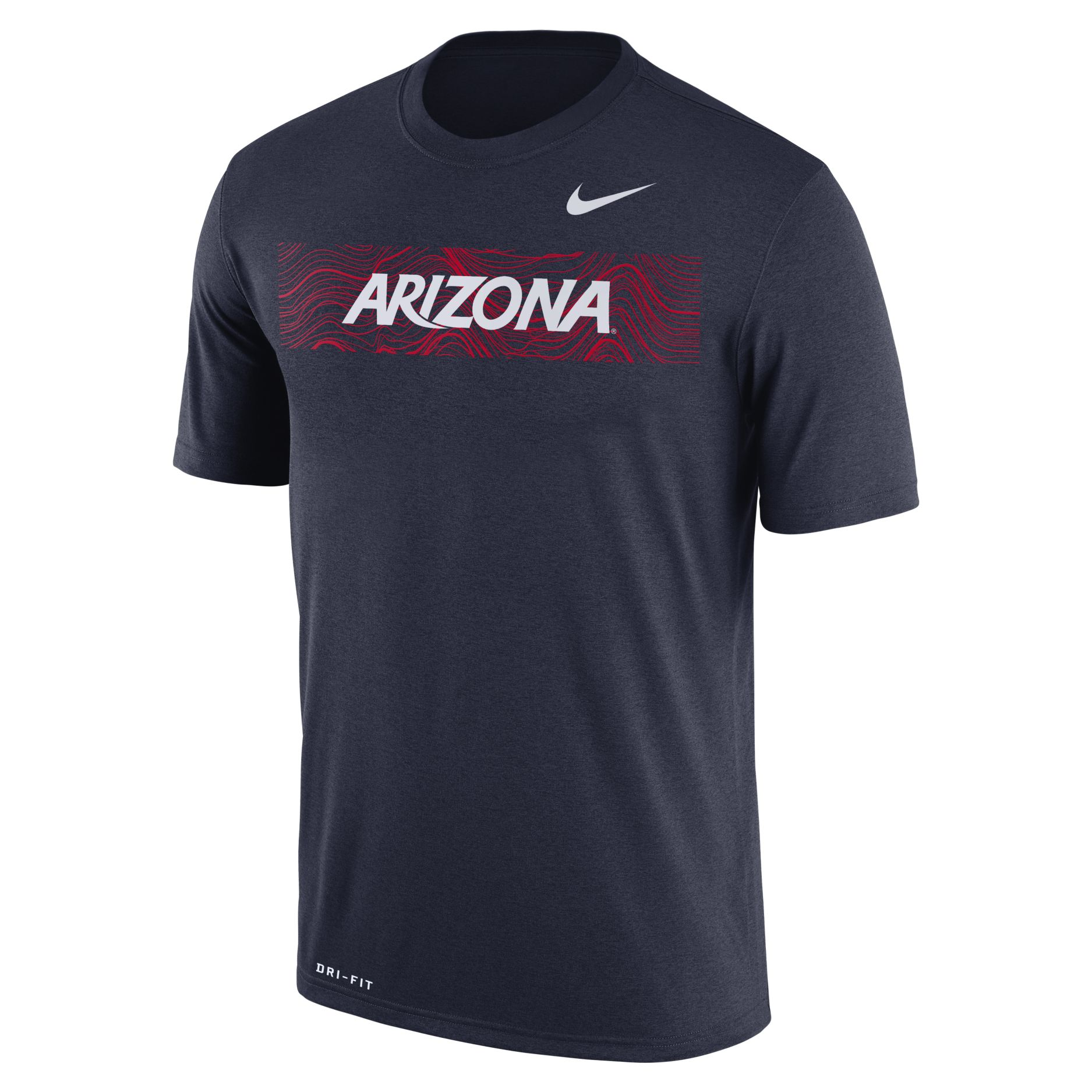 Cover Image For Nike: Arizona Sideline Legend Football Crew Dri-FIT Tee-Navy