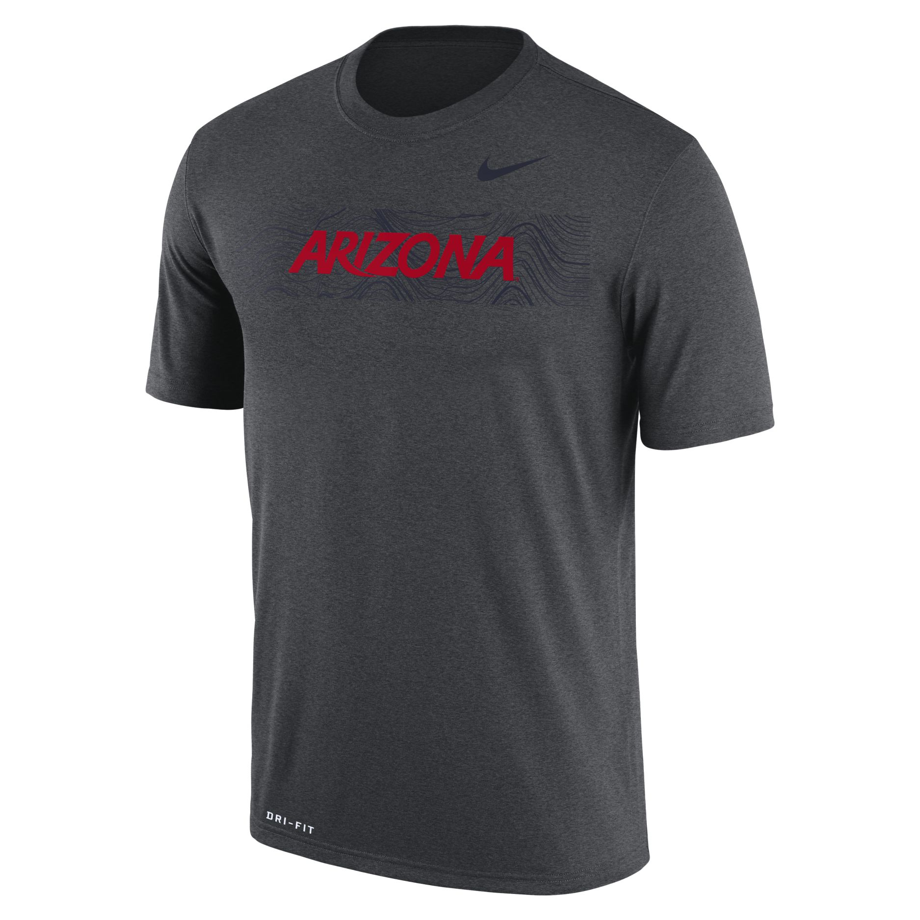 Image For Nike: Arizona Sideline Legend Football Crew Dri-FIT-Charcoal