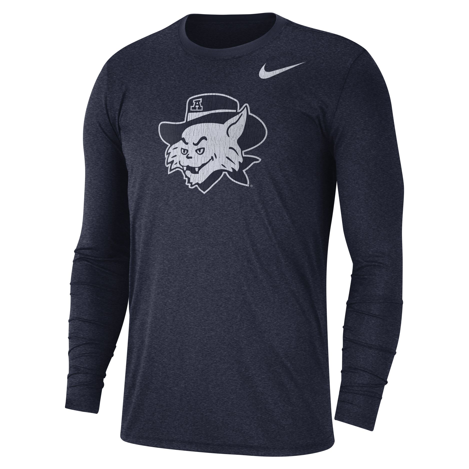 Image For Nike: Arizona Vault Wilbur Tri-Blend Long Sleeve - Navy