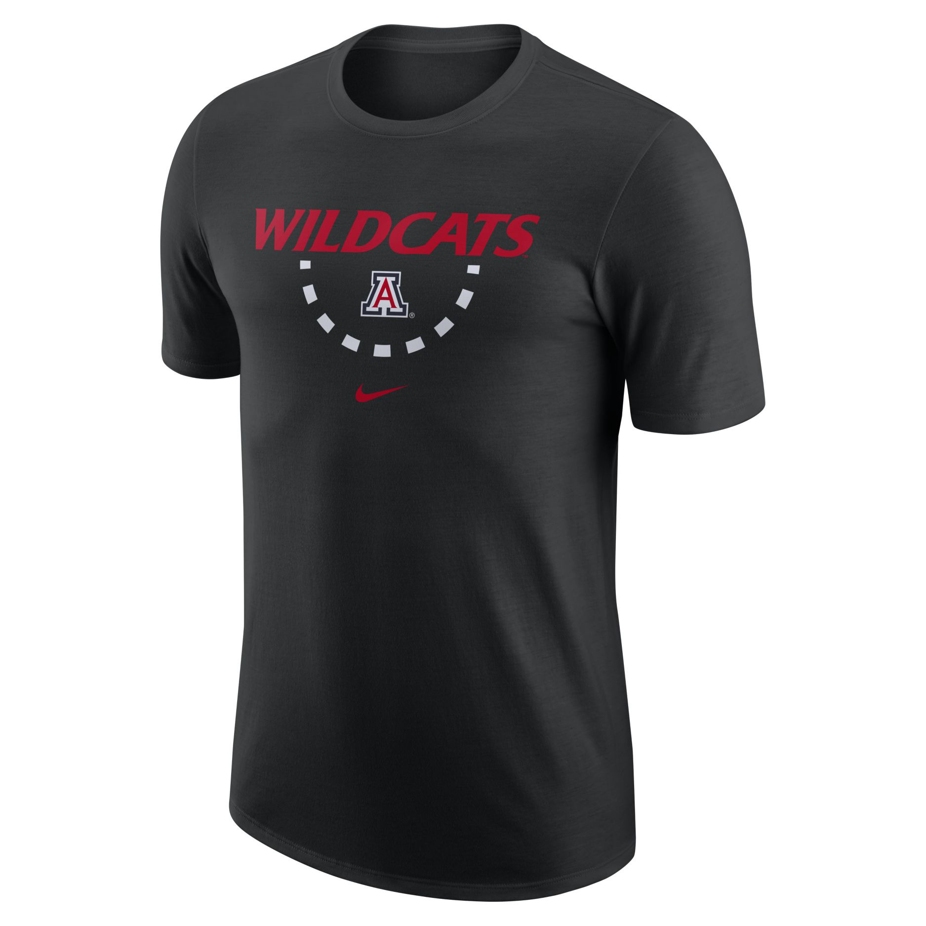 Image For Nike: Arizona Wildcats Mantra Basketball T-Shirt - Black