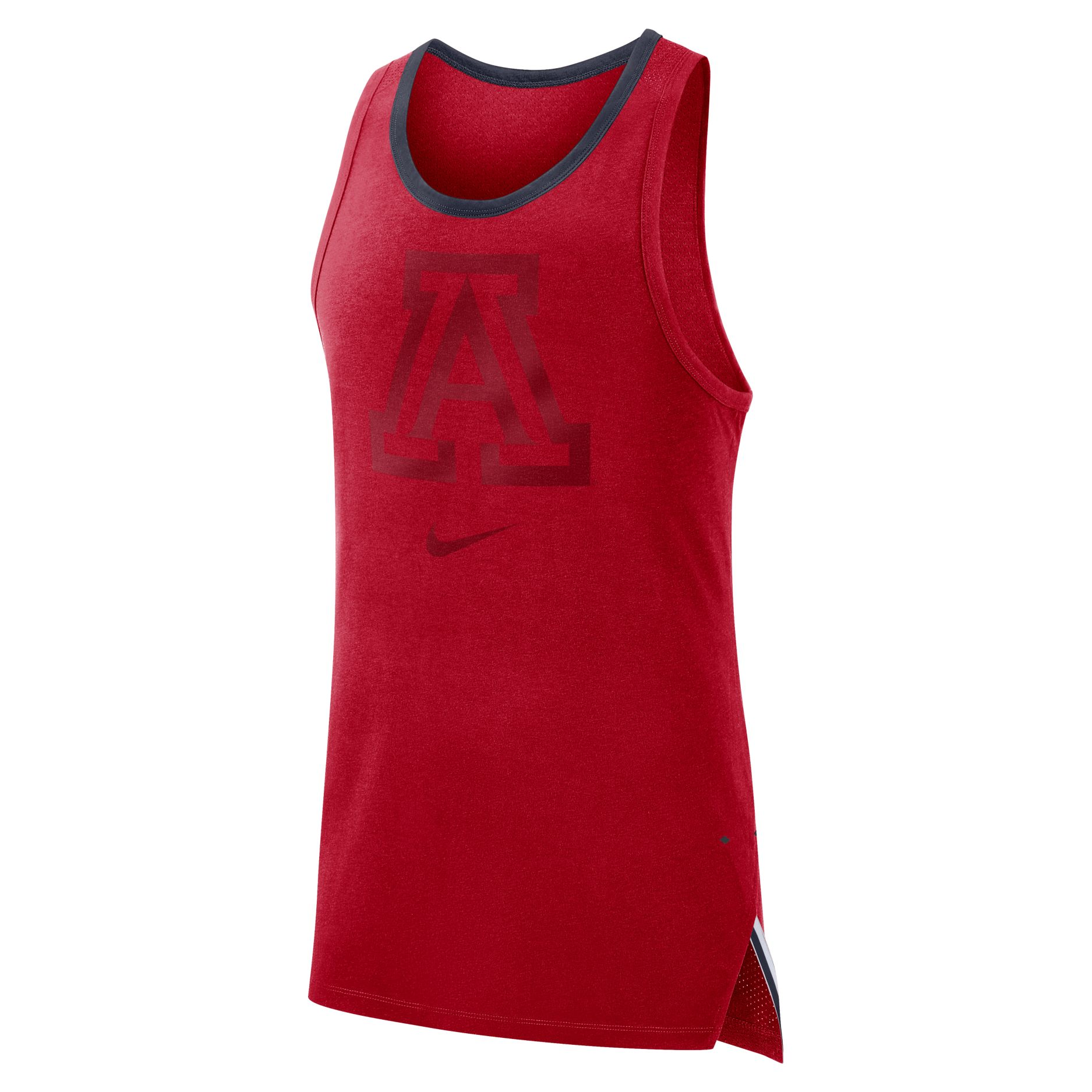 Image For Nike: Arizona Mens Elite Sleeveless Breathe Top - Red