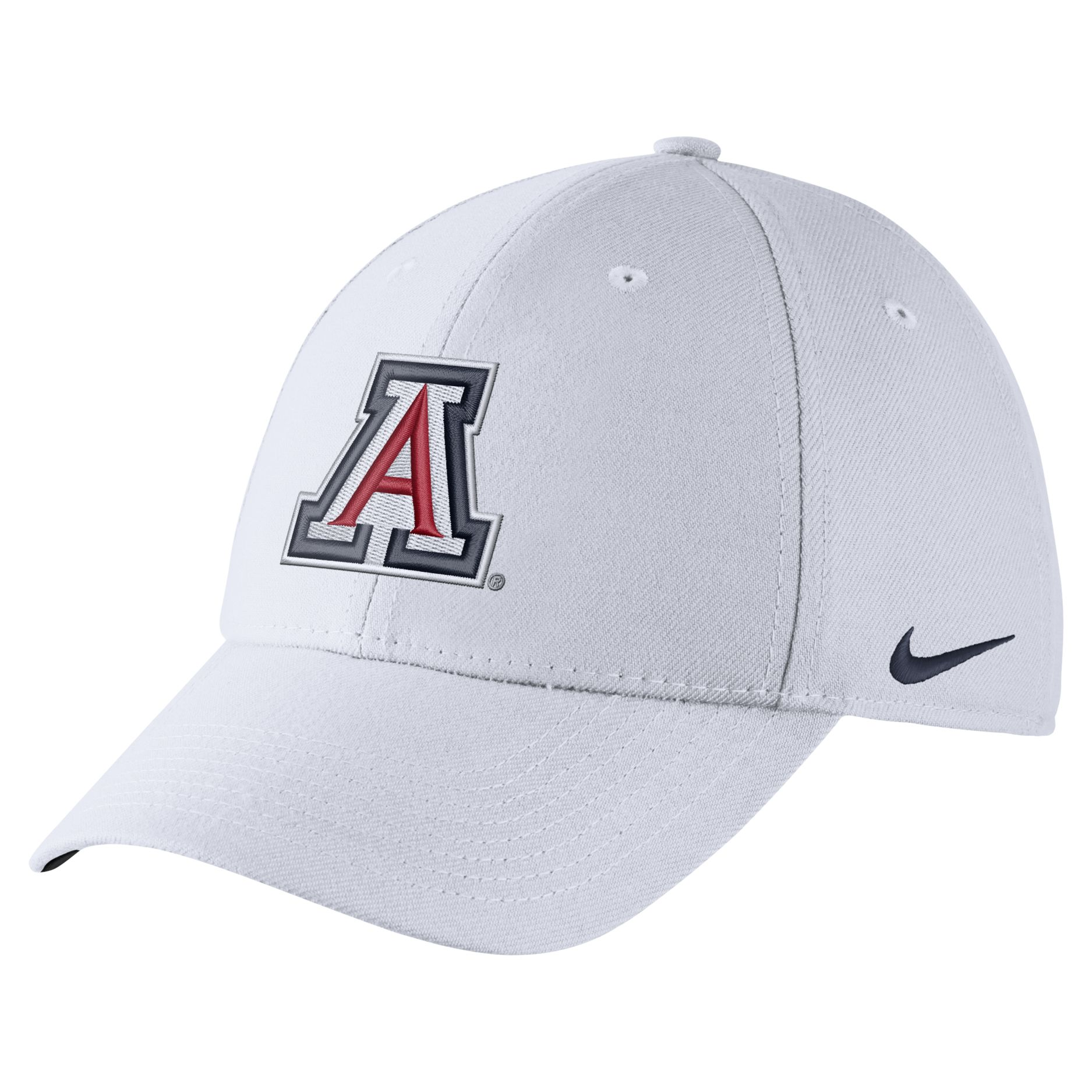 Image For Nike: Arizona Wildcats Dri-FIT Flex-Fit Cap- White