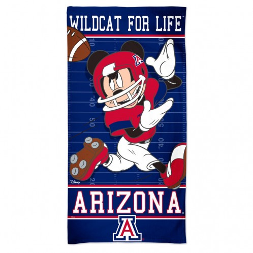 Image For Beach Towel: Arizona Disney Football Spectra by WinCraft