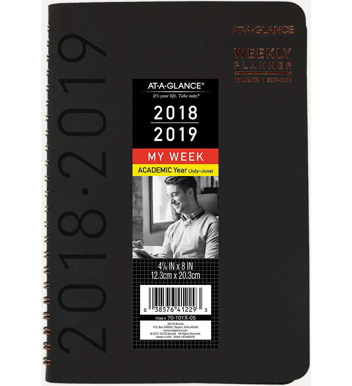 at a glance contempo academic weekly monthly planner university