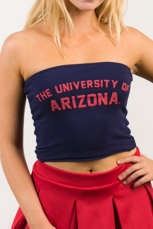 Image For Hype & Vice: Arizona Long Tube Top - Navy