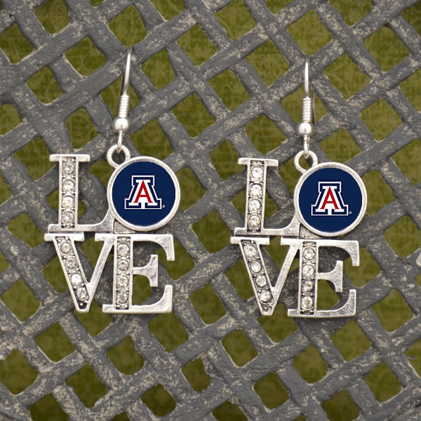 Image For HJC: Arizona LOVE Logo Earrings
