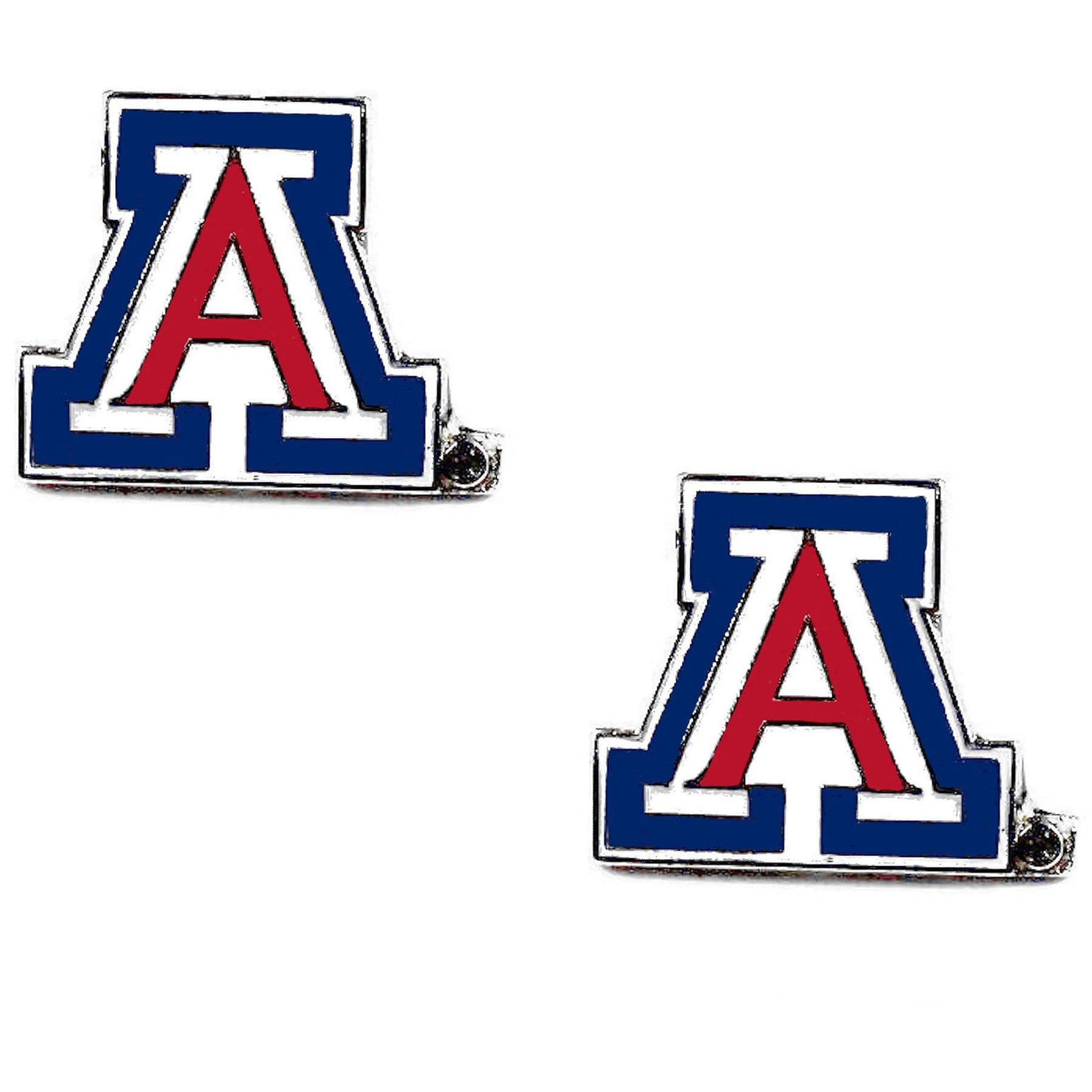 Cover Image For Aminco: Arizona Wildcats Stud Logo Charm Earring Set