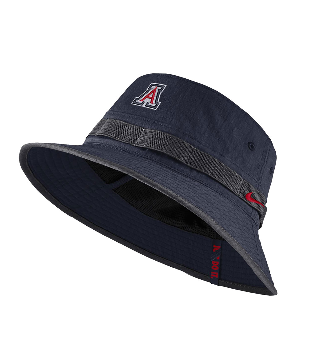 Image For Nike: Arizona Wildcats Youth 2018 Sideline Bucket Hat-Navy