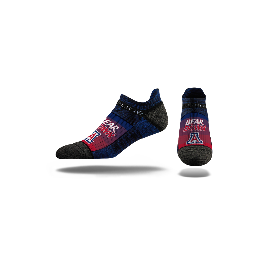 Image For Strideline:Arizona Bear Down Navy Horizon No Show Crew Socks