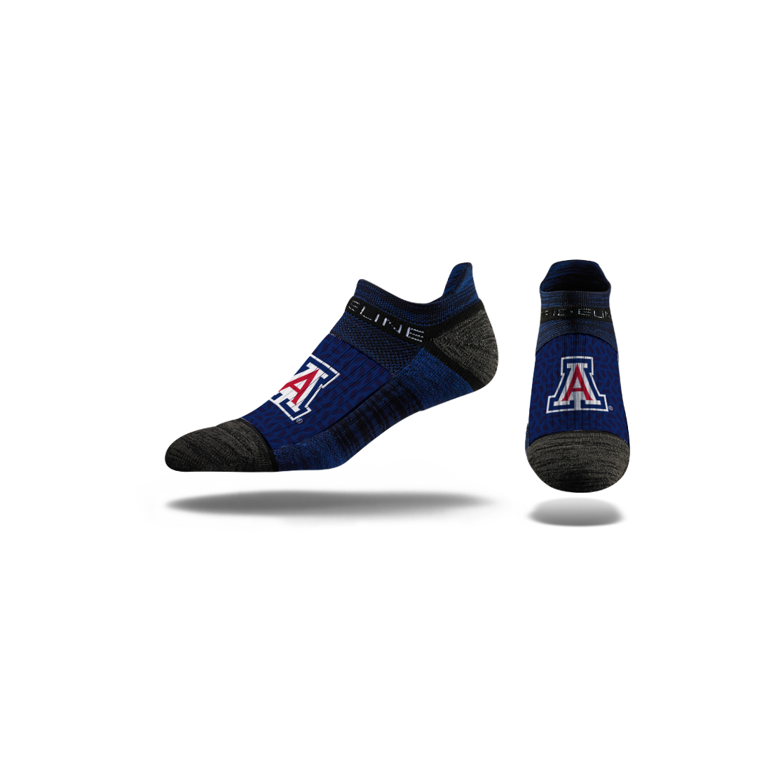 Image For Strideline: Arizona Team Logo Navy Force Low Crew Socks