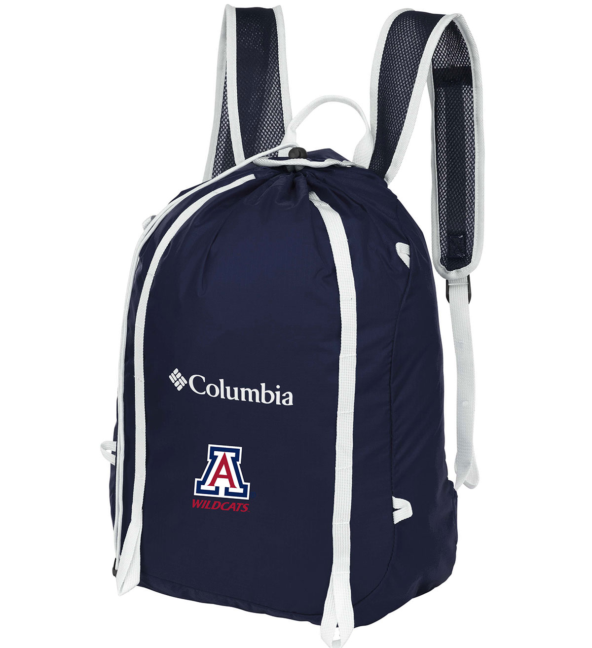 Image For Columbia: Arizona Wildcats Silver Falls Cinch Pack-Navy
