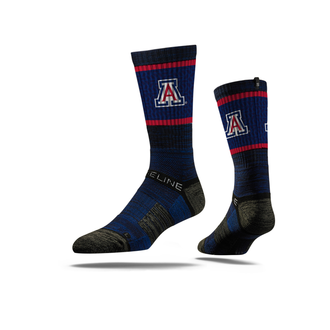Image For Strideline: Arizona Team Logo Navy Force Crew Socks