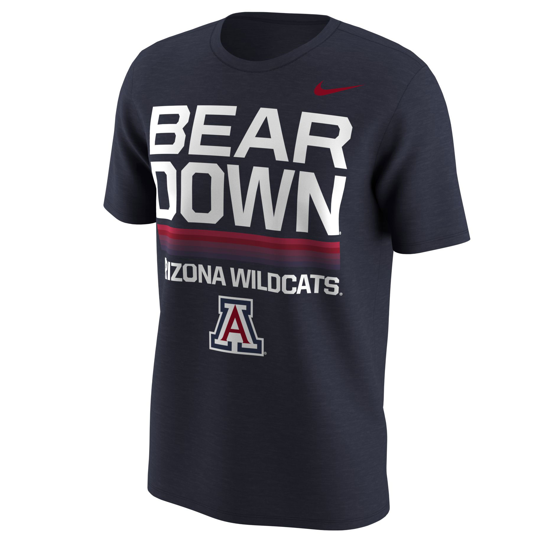 Image For Nike: Arizona Widlcats BEAR DOWN Dri-Blend Local - Navy