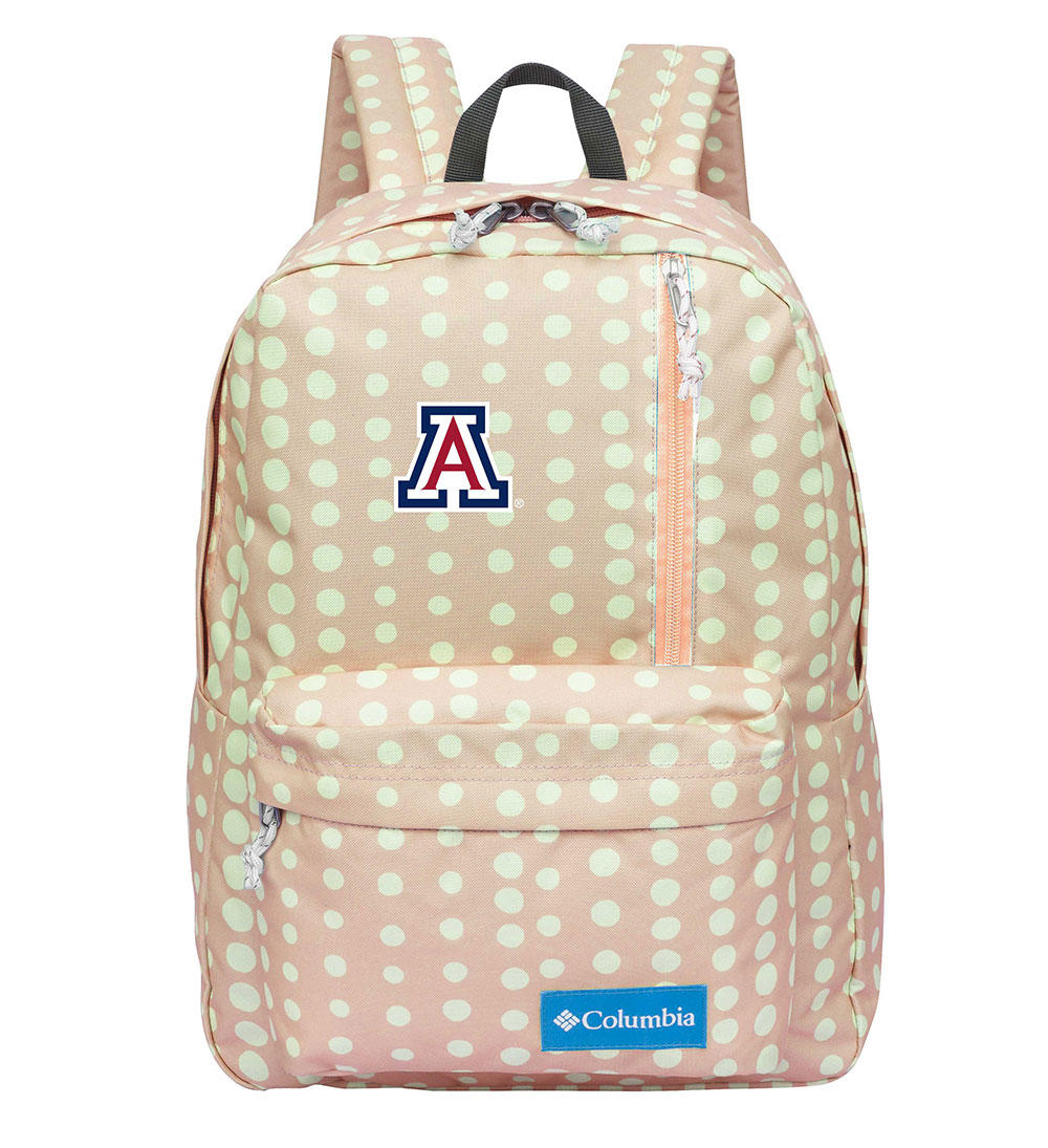 Image For Columbia: Arizona Logo Sun Pass Daypack- Peach Dolka Dots