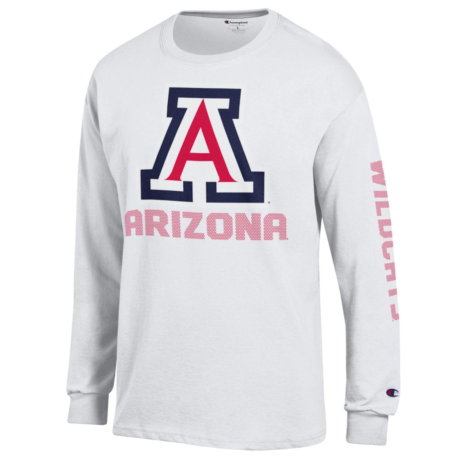 fba2b5181 Champion: Arizona Wildcats Long Sleve Jersey Tee - White