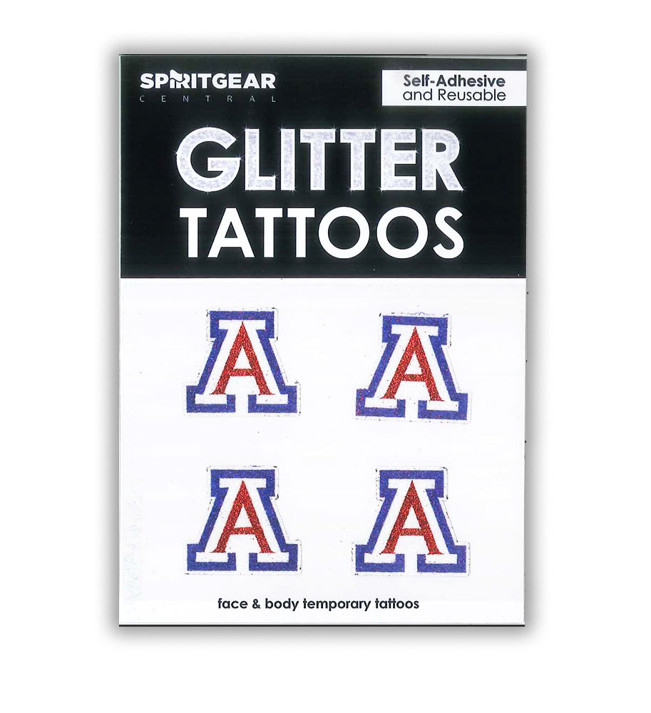 Image For Spirit Gear: Arizona Logo Glitter Tattoos