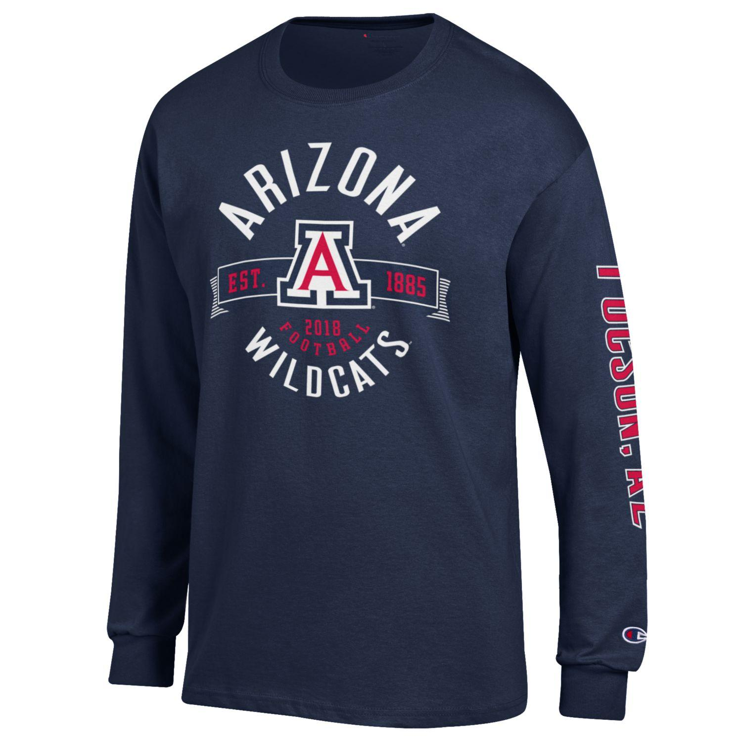 Image For Champion: Arizona Football Est 1885 Long Sleeve Jersey Tee