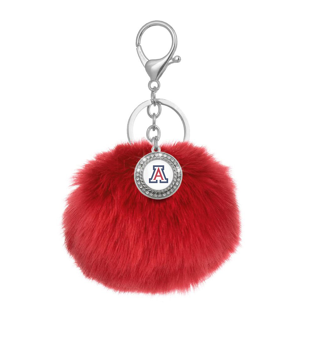 Image For Keychain: Arizona Pom Pom Keychain by Spirit Gear-Red