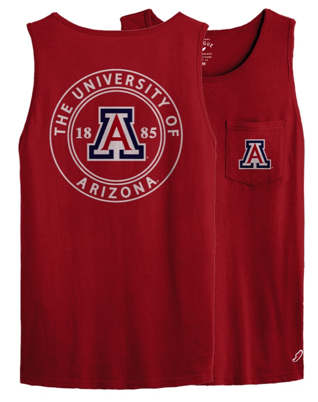 Image For League 91: Arizona University 1885 Vintage Pocket Tank-Red