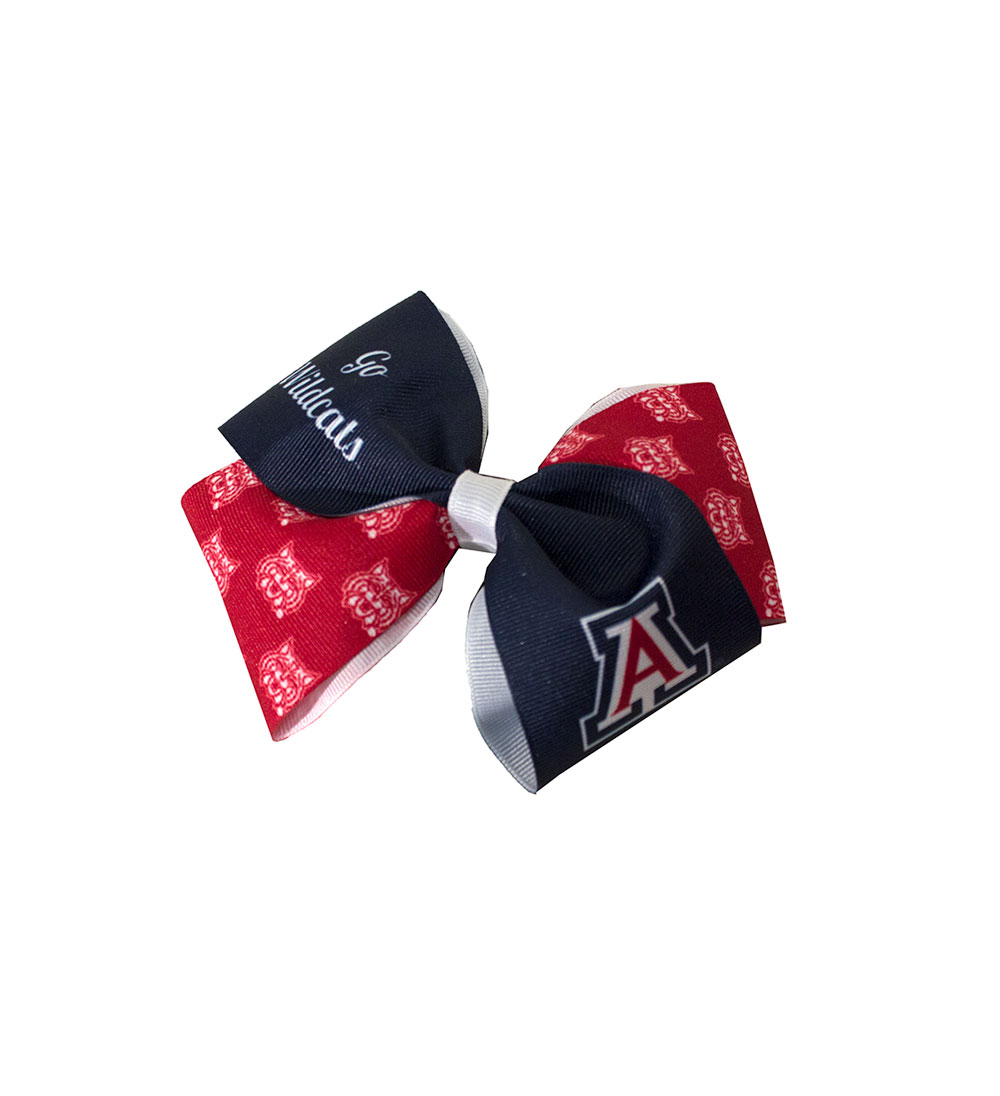 Image For Arizona Wildcats Small Bow Barrette