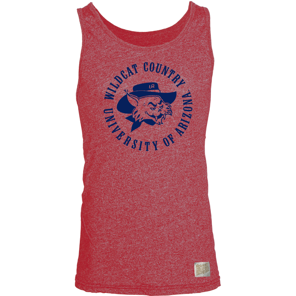 Image For Retro Brand: Arizona Wildcat Country Mock Twist Tank
