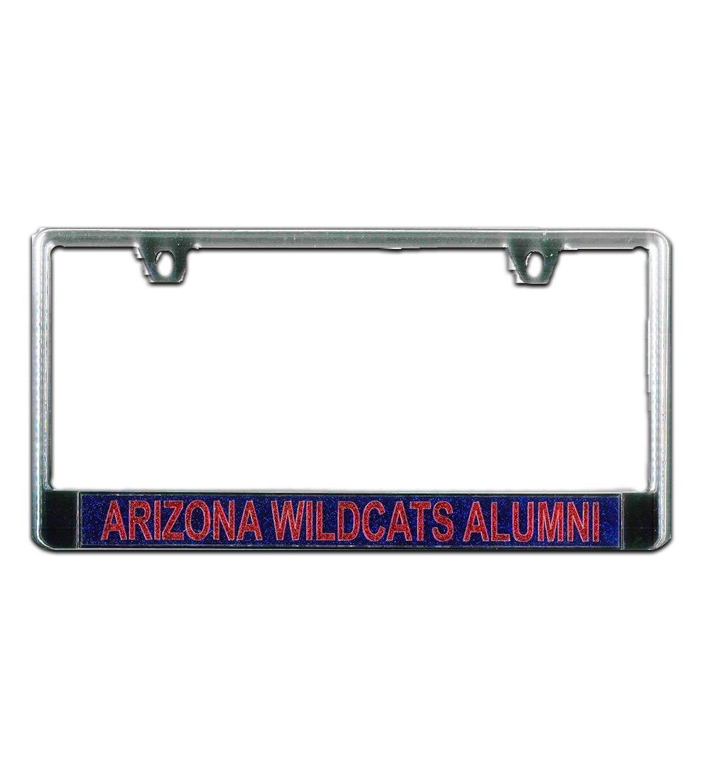 Image For WinCraft: Arizona Wildcat Alumni Glitter License Plate Frame