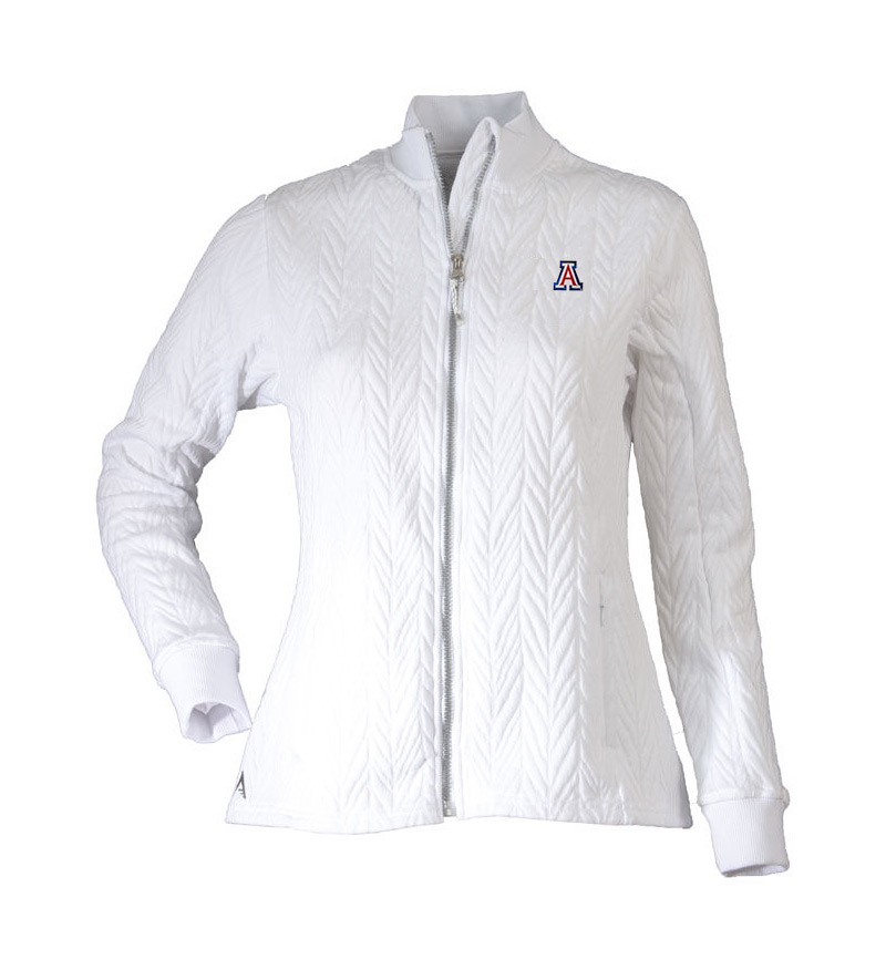 Cover Image For Antigua: Arizona Women's Destination Golf Jacket - White