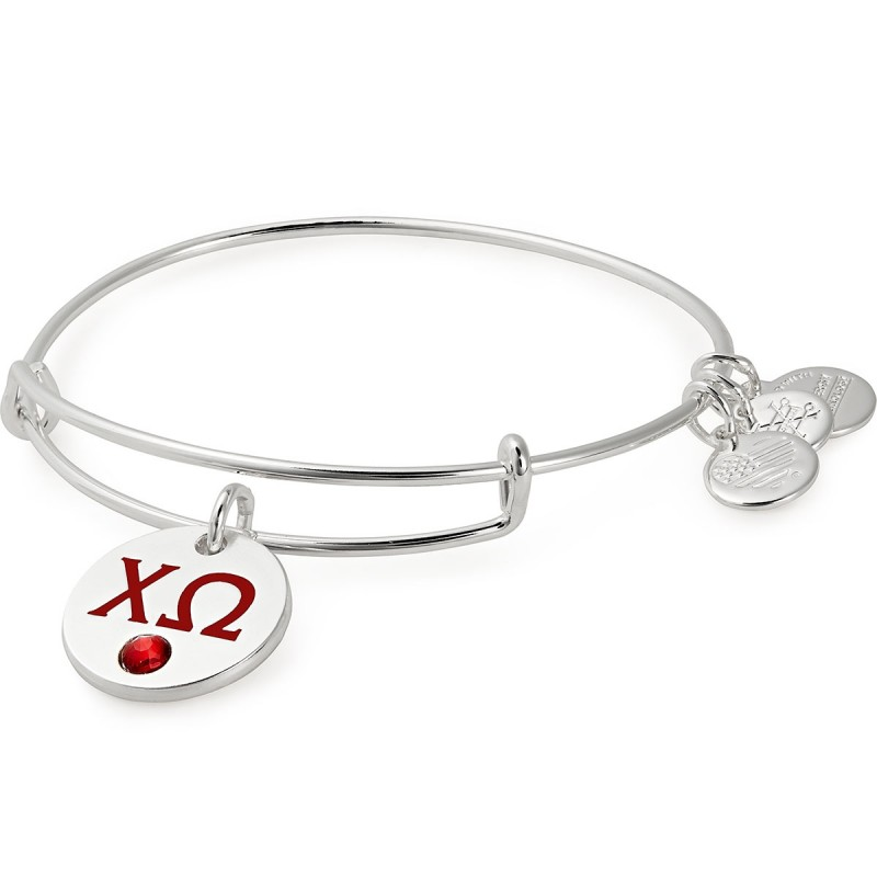 Image For Alex and Ani: Chi Omega Color Infusion Charm Bangle