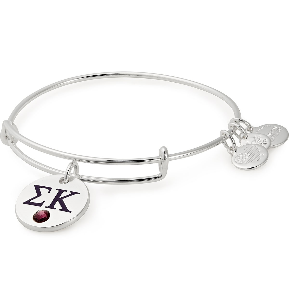 Image For Alex and Ani: Sigma Kappa Color Infusion Charm Bangle