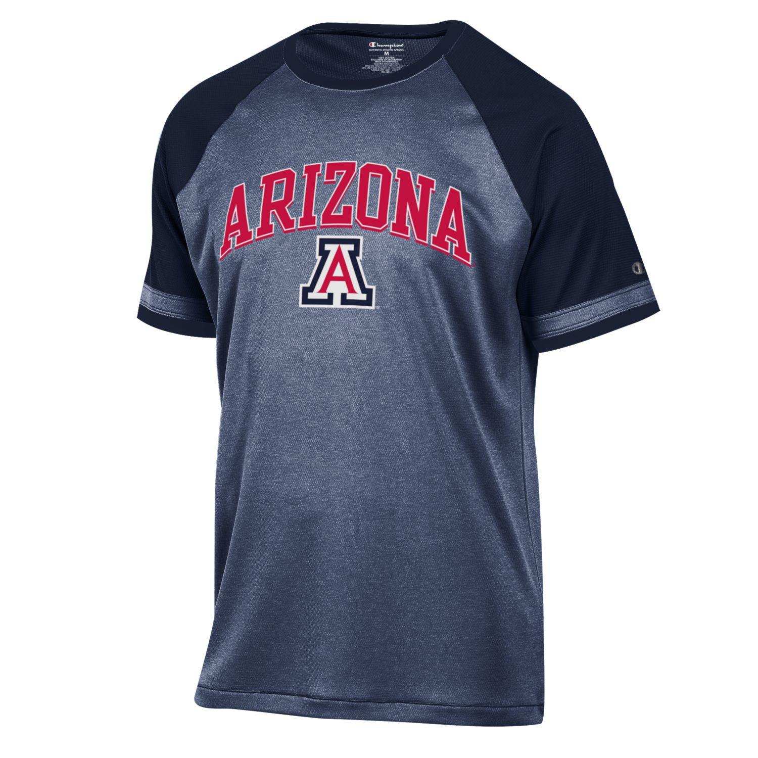 Image For Champion: Arizona Men's School Pride Raglan Tee Black