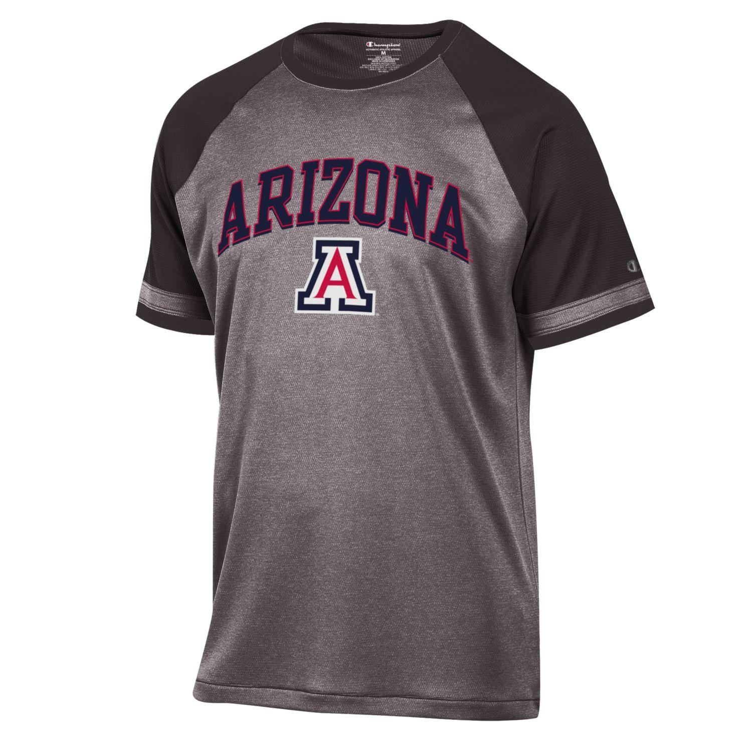 Image For Champion: Arizona Men's School Pride Raglan Tee Granite