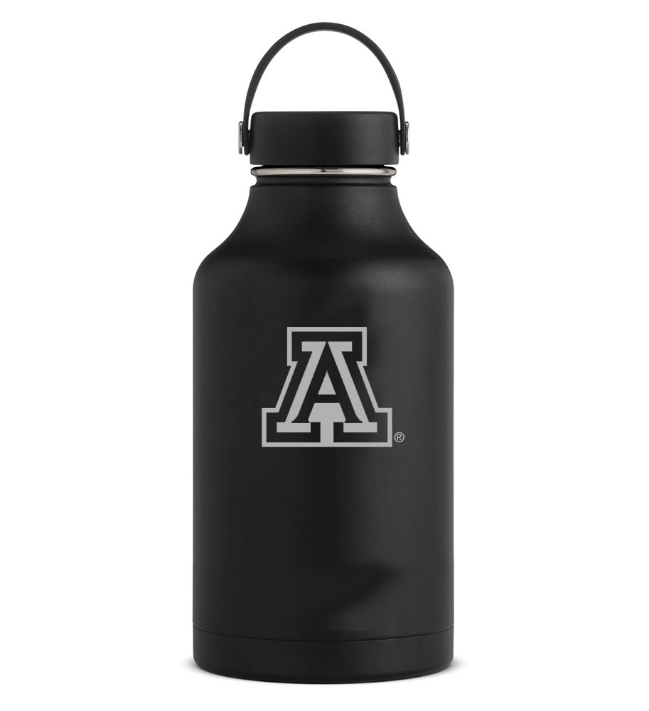 Image For Hydro Flask: Arizona Team Logo 64 oz Wide Mouth - Black