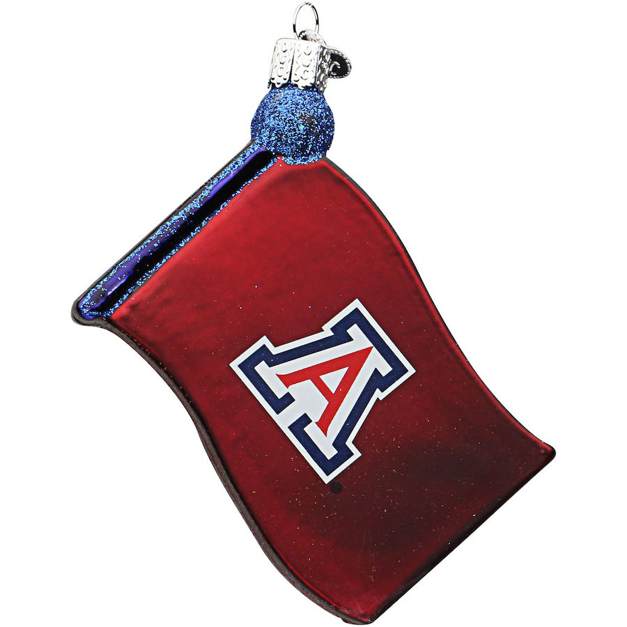 Image For Old World Christmas: Arizona Wildcats Flag Ornament